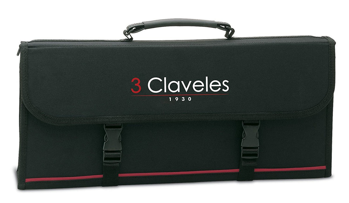 3 Claveles 1681 - 17 piece, empty, fabric professional case