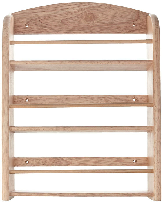 """Scimitar"" 18 Jar Wall Spice Rack in Hevea with Fixings (Jars Not Included)"