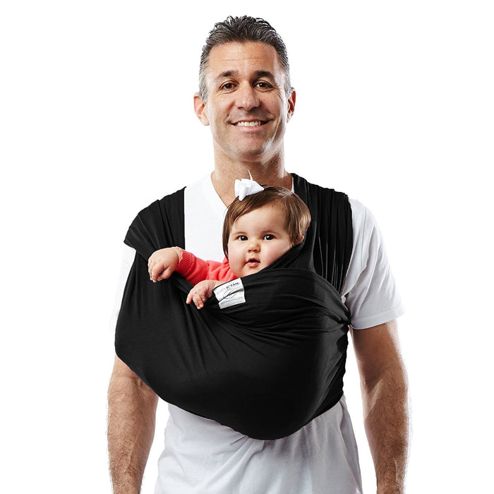 Baby K'Tan Baby Cotton Carrier (X-Large, Black)