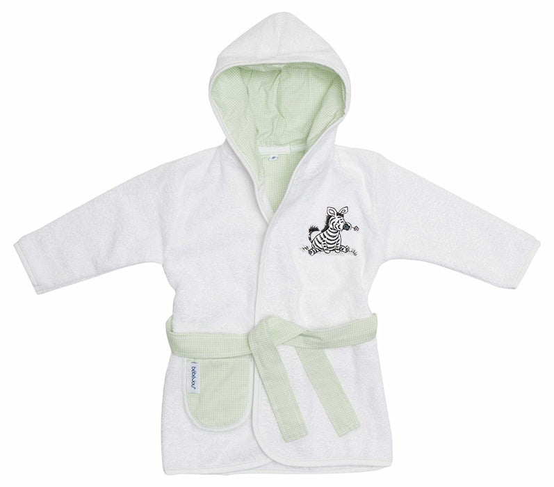 Bébé-jou Dinkey 301655N Bathrobe Dinkey Zebra Checked