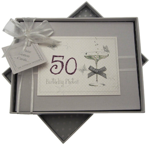 50th Birthday, Small Photo Album, Coupé Glass