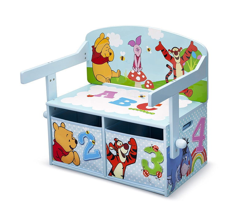Disney Winnie the Pooh Convertible Bench/Desk (Blue)