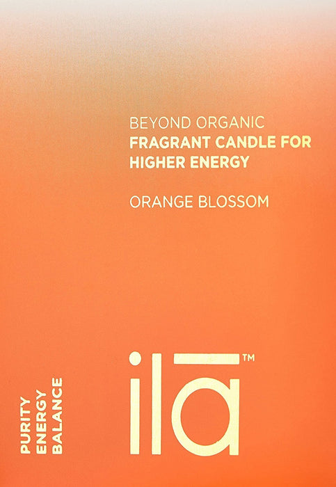 ila Fragrant Candle for Higher Energy, Orange Blossom 200 g