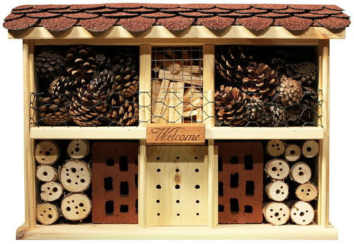 22627e Country Cottage Comfort Insect Hotel Construction Kit with Simple Dowel Push-Together System