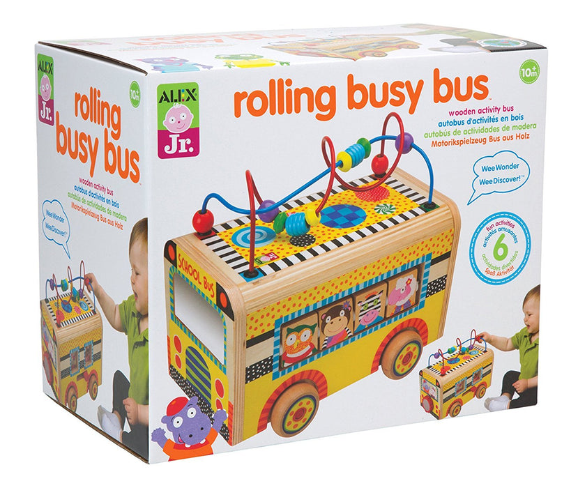 Alex Toys Jr. Rolling Busy Bus Baby Wooden Developmental Toy