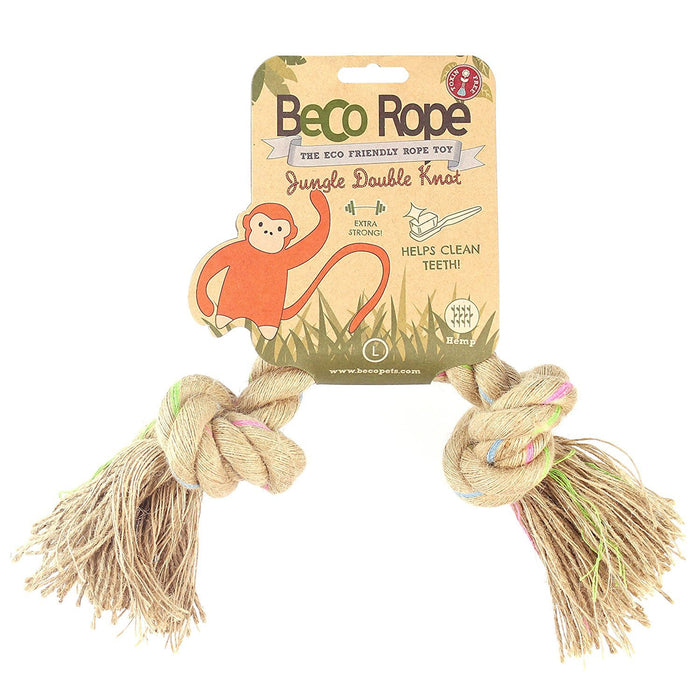 Beco Things Jungle Rope, Double Knot, Large, Natural Hemp and Cotton Play Toy