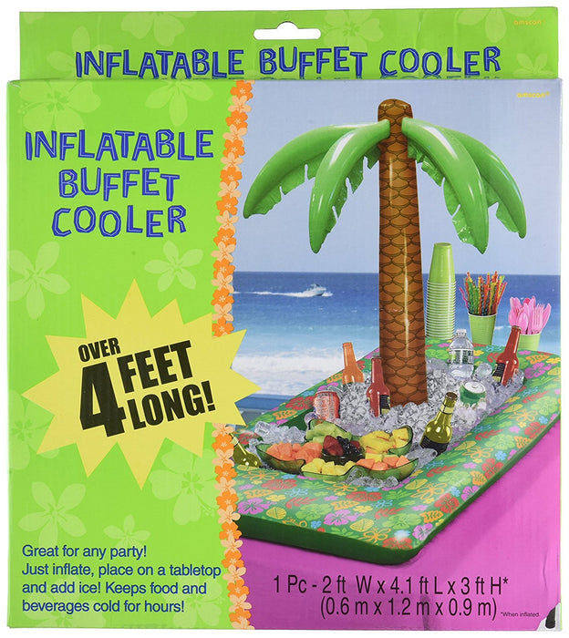 Amscan International 374605 0.6 x 1.2 x 0.9 m Hawaiian Inflatable Tropical Palm Cooler