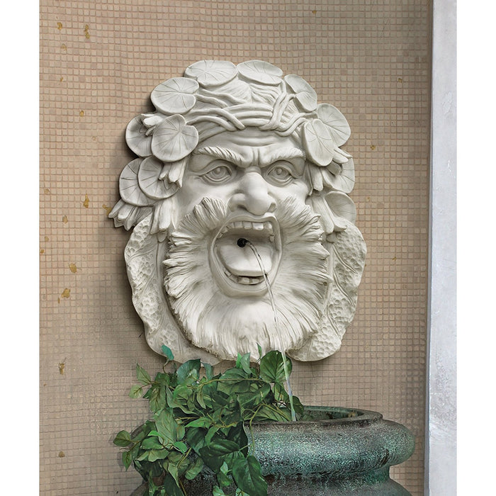 Design Toscano Hafod Mansion Greenman Fountain Wall Sculpture