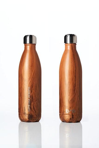Future Bottle - stainless steel insulated bottle - 750 ml - Woodgrain