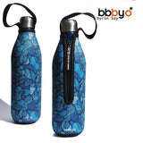 BBBYO Future Bottle + carry cover - stainless steel insulated bottle - 750 ml - Wind print