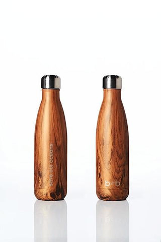 BBBYO Future Bottle - Woodgrain -  Stainless Steel - Insulated - 500 ml
