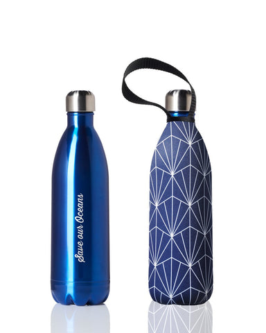 Future Bottle + carry cover - stainless steel insulated bottle - 1000 ml - Beam print