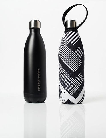 BBBYO Future Bottle + carry cover - stainless steel insulated bottle - 1000 ml - Circuit print