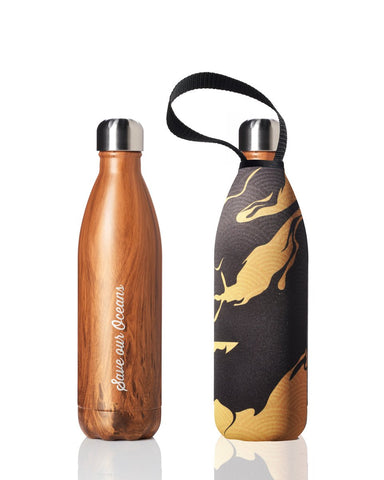 BBBYO Future Bottle + carry cover - stainless steel insulated bottle - 750 ml - Fai print