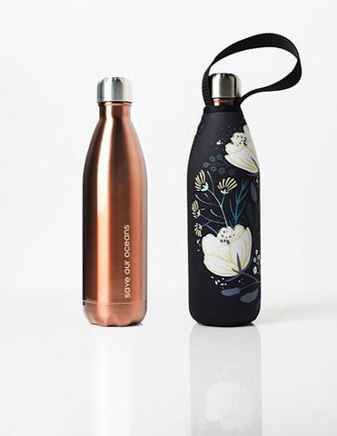 BBBYO Future Bottle + carry cover - stainless steel insulated bottle - 750 ml - Orient print
