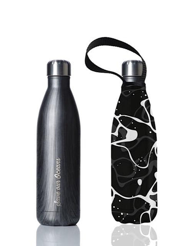 BBBYO Future Bottle + carry cover - stainless steel insulated bottle - 750 ml - Pool print
