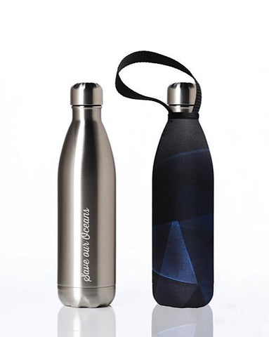 BBBYO Future Bottle + carry cover - stainless steel insulated bottle - 750 ml - Prism print
