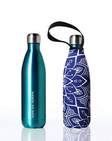 BBBYO Future Bottle + carry cover - stainless steel insulated bottle - 750 ml - Tokyo print