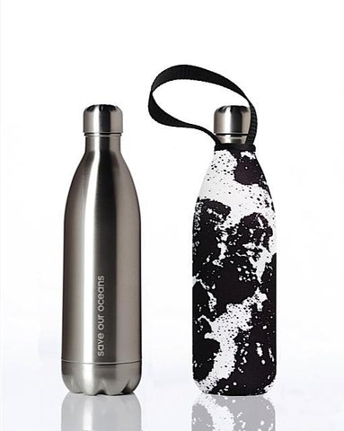 BBBYO Future Bottle + carry cover - 1000 ml - Whitewater print