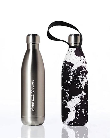 BBBYO Future Bottle + carry cover - stainless steel insulated bottle - 750 ml - Whitewater print