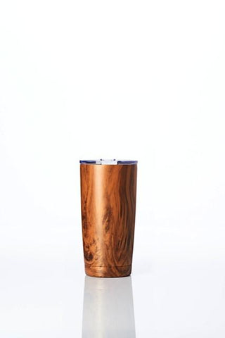 BBBYO Coffee Fix Cup stainless steel - insulated - 600 ml - Wood