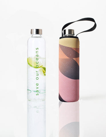 Glass is Greener + carry cover - 750 ml - Dune print