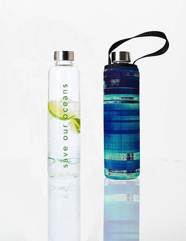 Glass is Greener + carry cover - 750 ml - Glassy print