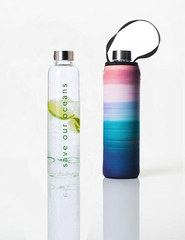 Glass is Greener + carry cover - 750 ml - Peace print