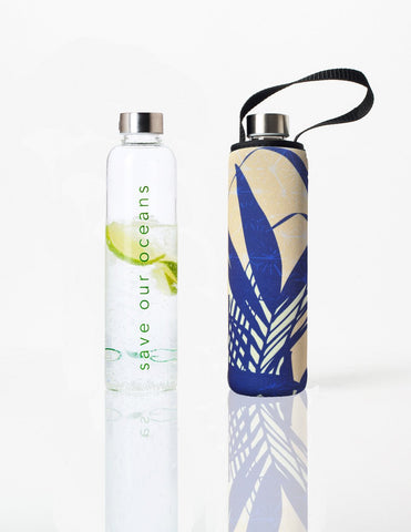 Glass is Greener + carry cover - 750 ml - Palm print