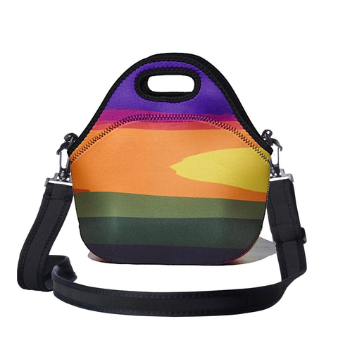 Lunchtime Bag by BBBYO - with shoulder strap - Basslet print