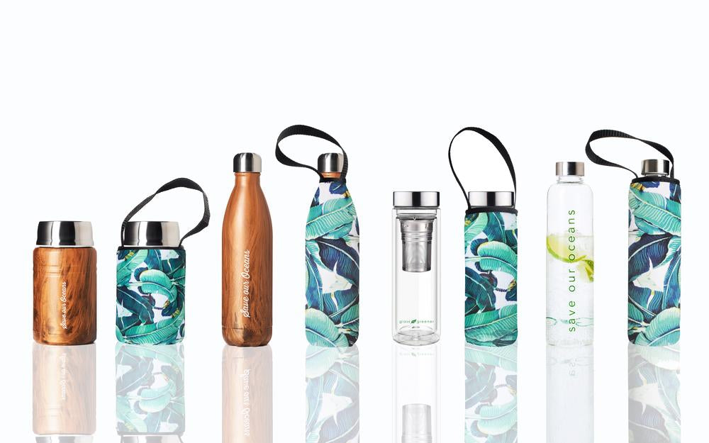 save our oceans, stainless steel drink bottle, insulated, eco