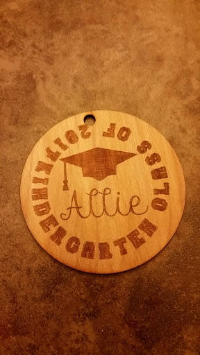 Personalized Ornament, Engraved Wooden, Hanging, Kindergarten, Graduation, Custom, School Gift,Laser Engraved, FootStepsinthePast
