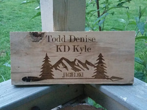 Personalized Wood Name Sign Wall Decor, Camper, Hunting, Mountains, Personalized Family Name Signs, Last Name Sign Family, Primitive, Custom