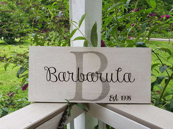 Family Name Sign, Last Name Gift, Large Sign, Personalized Sign, Reclaimed Barn Wood, Custom Sign, Wedding Gift, FootStepsinthePast