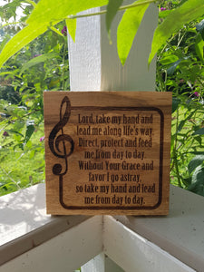 Scripture, Bible Verse, Phrase, Quote, Personalized, Custom, Sign, Psalm, Music Note, Hand planned, Laser, Personalize,footstepsinthepast