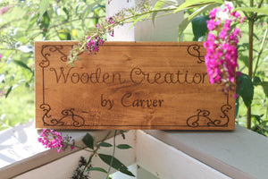 Custom Wood Sign, Business Sign, Outdoor Sign, Wall Decor, Personalized Name Signs, Laser Engraving, Custom, Footstepsinthepast