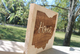 Ohio Sign, Home Sign, Your State,  Custom, Sign, Hardwood Hand planned, Laser etched, wood, Personalize,footstepsinthepast