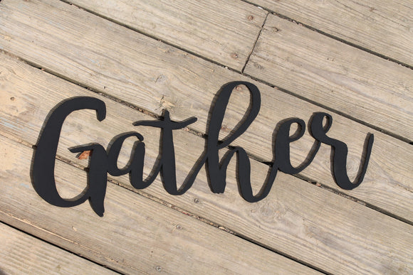 Gather, Gather Sign, Word Sign, Custom Wall Art, Wooden Words, Laser Cut Out, Wood Cut Out, Personalize, Footstepsinthepast