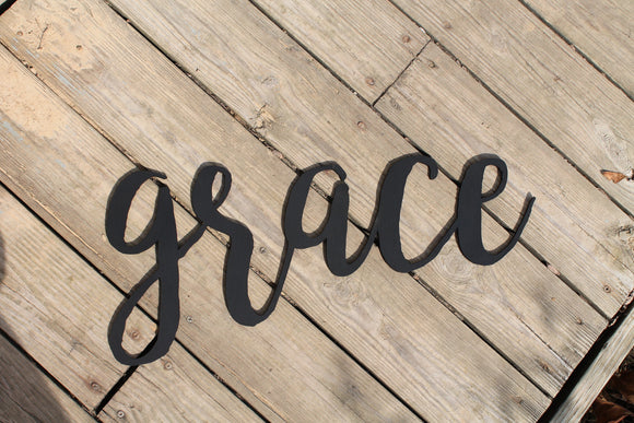 Grace, Grace Sign, Word Sign, Wooden Words, Laser Cut Out, fot photo wall, Wood Cut Out, Custom Word Art, Personalize, Footstepsinthepast