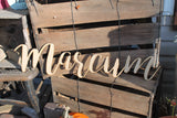 Name Sign, Family Sign, Your Words, Custom Name, Wooden Words, Laser Cut Out, Wood Cut Out, Custom Word Art, Personalize, Footstepsinthepast