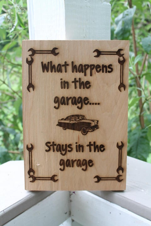 Garage décor mechanic sign collector car man cave wall art gift for him wood wooden outdoor indoor rustic antique primitive manly guy