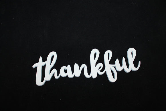 wood thankful cutout sign wooden Thanksgiving, Thanks Sign, Word Sign Laser Cut Out, Wood Cutput, Custom Word Art, Personalize,