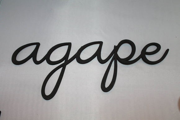 Agape, Agape Sign, Word Sign, Wooden Words, Laser Cut Out, Wood Cut Out, Custom Word Art, Personalize, Footstepsinthepast