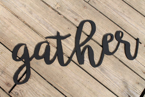 gather Sign, Wooden Words, Laser Cut Out, Wood Cut Out, Custom Word Art, for photo wall art decor Personalized cutstom