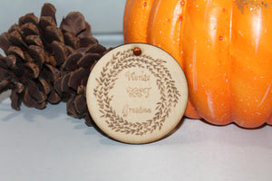 World's Best Grandma, Grandma Gift, Christmas Ornament, Custom Ornament, Laser Engraved, Wood Cut Out, Footstepsinthepast