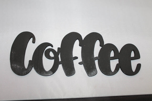 Coffee, Coffee Sign, Coffee Art, Word Sign, Wooden Words, Laser Cut Out, Wood Cut Out, Custom Word Art, Personalize, Footstepsinthepast