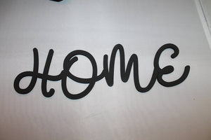 Home, Home Sign, Word Sign, Wooden Words, Laser Cut Out, Wood Cut Out, Custom Word Art, Personalize, for photo wall