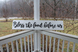 Bless this Food, Bless this House, Bless the Food Before Us, farmhouse decor, wood sign, Large, Raised Letter, Dining Room Decor Xlarge 3D