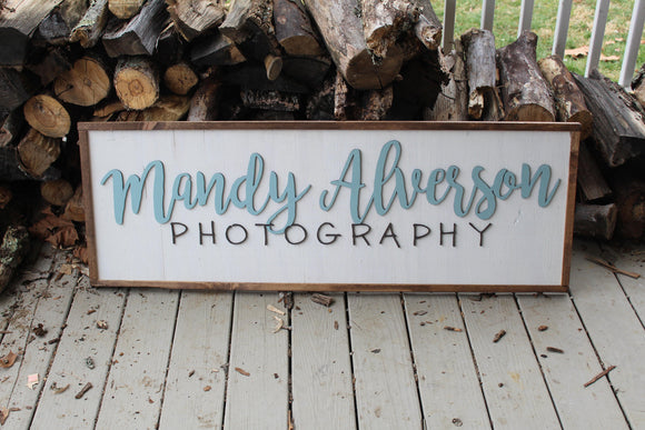 office sign, large business sign custom or personalized to your logo graphic framed wood plaque branding tool signage rustic store farmhouse