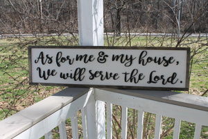 As for me and my House, We will Serve the Lord, Large, 3D,  Wood, Laser Cut Out, 3D, Extra Large, Sign, Fireplace Sign, Footstepsinthepast